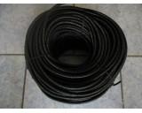 Pružné gumové lano 8mm - černá