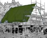 Plachty 8x10m - 250gr/1m2 olivová (s UV stabilizátorem)