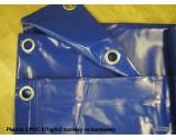Plachty z PVC 570g/m2 6x10m modrá