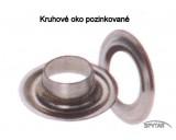 Oka na plachty kruhová ocelová pozinkovaná