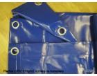 Plachty z PVC 570g/m2 rozměry na kontejnery 3,5x8m modrá