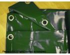 Plachty z PVC 570g/m2 rozměry na kontejnery 3,5x8m zelená