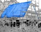 Plachty 8x12m - 250gr/1m2 modrá (s UV stabilizátorem)