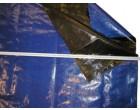 Plachtovina PE 200g/1m² modro/černá - cena za 100 bm